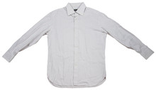 Broncos Peyton Manning '13 Press Conf Worn Zegna Custom Dress Shirt Photo Match