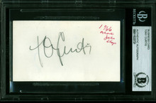 Tony Curtis Some Like It Hot Authentic Signed Business Card BAS Slabbed