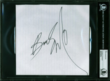 Bruce Springsteen Authentic Signed 7.5c8 Cut Signature Autographed BAS Slabbed