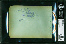 """Aaron Spelling Charlie's Angels """"Love"""" Signed 4.5x5.75 Album Page BAS Slabbed"""