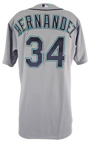 Mariners Felix Hernandez Game Used 2015 Grey Majestic Road Jersey w/ LOA