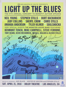 Light Up The Blues (26) Young, Stills, Beck +23 Autism Speaks Poster BAS #A70586