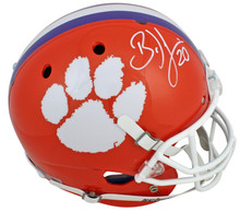 Clemson Brian Dawkins Signed Orange Schutt Full Size Rep Helmet JSA Witness