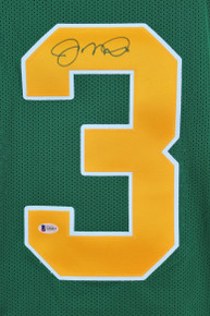 Notre Dame Joe Montana Authentic Signed Green Jersey BAS