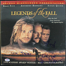 Aidan Quinn & Henry Thomas Authentic Signed Laserdisc Cover PSA/DNA #J00727