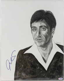 Al Pacino Scarface Authentic Signed 15X19 Original Painting PSA/DNA #S10804