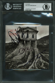 Bon Jovi (3) Authentic Signed This House Is Not For Sale Cd Cover BAS Slabbed