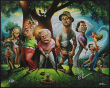 Chevy Chase Caddyshack Authentic Signed 16x20 O'Keefe Lithograph BAS Witnessed