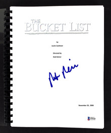 Rob Reiner Authentic Signed The Bucket List Movie Script Autographed BAS #F99183