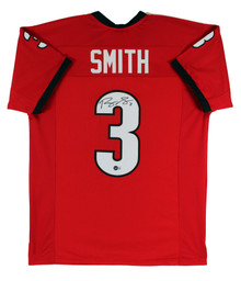 Georgia Roquan Smith Authentic Signed Red Jersey Autographed BAS Witnessed