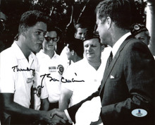 "Bill Clinton ""Thanks"" Authentic Signed B&W 8X10 Photo Meeting JFK BAS #A00309"