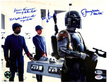 Star Wars (3) Wingreen, Bullock & Burtt Authentic Signed 11x14 Photo BAS #A15136