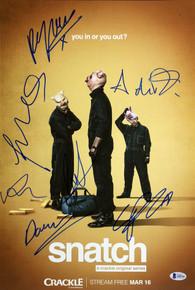 Snatch (7) Grint, De Rakoff +5 Signed 12x18 Mini Movie Poster BAS #A85166