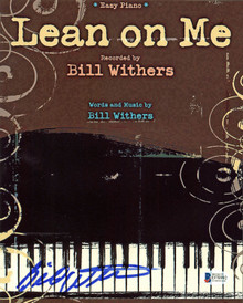 Bill Withers Musician Lean on Me Authentic Signed 8x10 Photo BAS #D78992