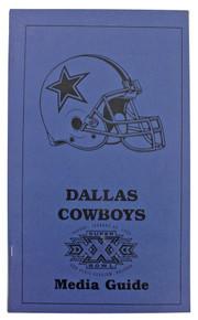 Dallas Cowboys Super Bowl XXX Media Guide