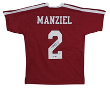 Johnny Manziel HT '12 Authentic Signed Maroon Pro Style Jersey BAS Witnessed