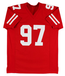 49ers Nick Bosa Authentic Signed Red Jersey Autographed BAS Witnessed