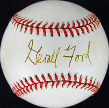President Gerald Ford Authentic Signed OAL Baseball Autographed JSA #Y62471