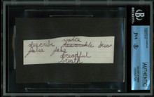 James Dean 1.25x4.5 Handwriting Sample from 5th Grade Notebook JSA Slab #8947588