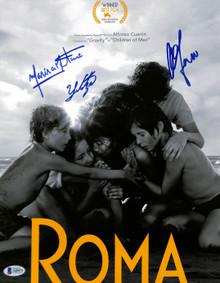Roma (3) Alfonso Cuaron, Aparicio & Tavira Signed 11x14 Photo BAS #A68475