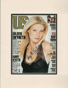 Gwyneth Paltrow Authentic Signed & Matted Us Weekly Magazine Cover PSA #J00258
