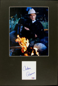 Aidan Quinn Authentic Signed Matted Cut Display Autographed PSA/DNA #J00155