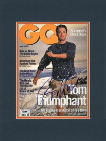 Tom Hanks Authentic Signed & Matted Gq Magazine Cover PSA/DNA #I84803