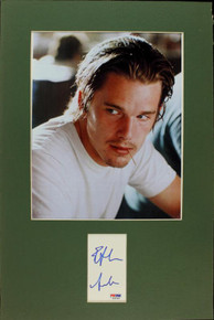 Ethan Hawke Authentic Signed Matted Cut Display Autographed PSA/DNA #J00149