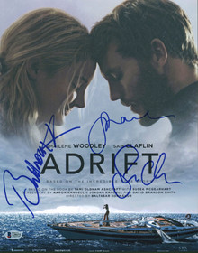 Adrift (3) Woodley, Clafin & Kormakur Authentic Signed 11x14 Photo BAS #A39173