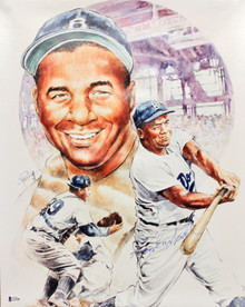 Dodgers Roy Campanella Authentic Signed 16x20 Lithograph Autographed BAS #A11544