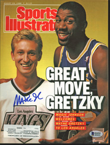 Lakers Magic Johnson Signed 1988 Sports Illustrated Magazine BAS #MJ00982