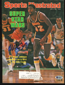 Lakers Magic Johnson Signed 1984 Sports Illustrated Magazine BAS #MJ00969
