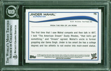Jinder Mahal Authentic Signed 2014 Topps WWE #75 Auto Card BAS Slabbed #11977138