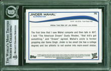 Jinder Mahal Authentic Signed 2014 Topps WWE #75 Auto Card BAS Slabbed #11977139