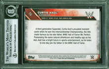 Curtis Axel Authentic Signed 2016 Topps WWE #16 Auto Card BAS Slabbed