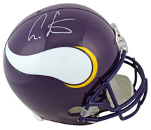 Vikings Cris Carter Authentic Signed Purple Full Size Rep Helmet BAS Witnessed