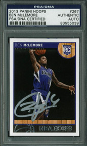 Kings Ben Mclemore Authentic Signed Card 2013 Panini Rc #267 PSA/DNA Slabbed