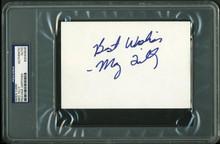 Meg Tilly Authentic Signed 4X6 Index Card Autographed PSA/DNA Slabbed