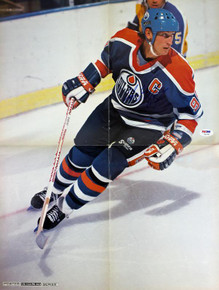 Oilers Wayne Gretzky Authentic Signed 16X21 Poster Autographed PSA/DNA #T41054