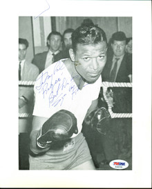 """Sugar Ray Robinson """"Best Wishes"""" Authentic Signed 8x10 B&W Photo PSA #AG02193"""