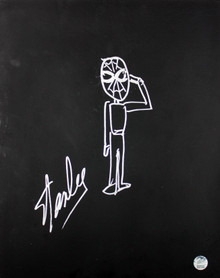 Stan Lee Authentic Signed 16x20 Canvas w/ Spider-man Sketch PSA/DNA #W00379
