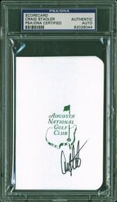 Craig Stadler Signed Augusta National Golf Club Scorecard PSA/DNA Slabbed 3