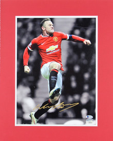 Manchester United Wayne Rooney Authentic Signed 11x14 Matted Photo BAS #E37860