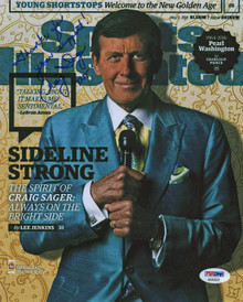 """Craig Sager """"Thanks For Your Support, TNT"""" Signed 8x10 Photo PSA/DNA #AB43531"""