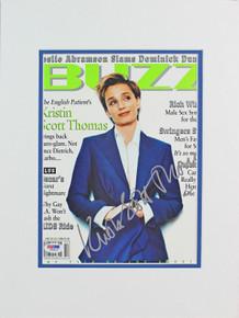 Kristen Scott Thomas The English Patient Signed Buzz Magazine Cover PSA #I84815