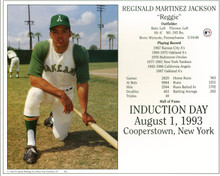 A's Reggie Jackson 8x10 PhotoFile Hall Of Fame Induction Day Photo Un-signed
