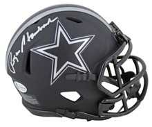 Cowboys Roger Staubach Authentic Signed Eclipse Speed Mini Helmet BAS Witnessed