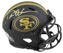 49ers Deion Sanders Authentic Signed Eclipse Speed Mini Helmet BAS Witnessed