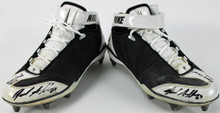 """Bears Jared Allen """"Game Used 2015"""" Signed Game Used Nike Cleats PSA/DNA #AC48280"""