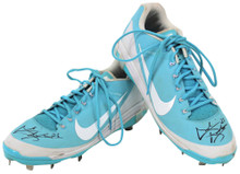 D-Backs Archie Bradley Signed 2018 Game Used Blue Nike Air Clipper Cleats BAS